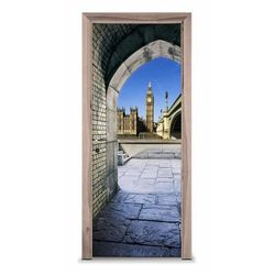Naklejka na drzwi - W londyńskiej bramie 7259