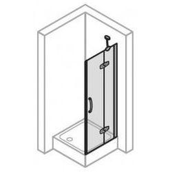 Drzwi do ścinaki bocznej Huppe Aura PRAWE, 120 cm, wys. 190 cm, montaż na brodziku, srebrny mat, szkło przeźroczyste 400405.087.321