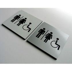 Piktogram, Symbol, Znak WC - Toaleta Wspólna 8x8cm