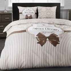 Komplet pościeli SWEET DREAMS brąz bawełna (200 x 220 cm)