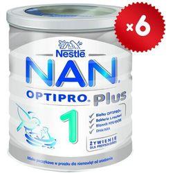 Zestaw 6x NESTLE NAN OPTIPRO Plus 1 800g Mleko początkowe Reuteri w pr