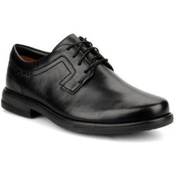 Buty sznurowane Clarks Carter air Męskie Czarne Dostawa 2 do 3 dni