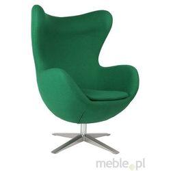 Fotel Jajo szeroki tkanina zielony