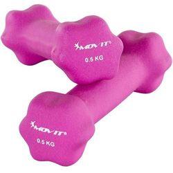 MOVIT® ZESTAW 2x HANTLE NEOPRENOWE 0,5 KG CIĘŻARKI - 2x 0,5kg różowy