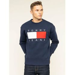 Tommy Jeans Bluza TJM Tommy Flag Crew DM0DM07201 Granatowy Regular Fit