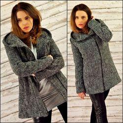 Zimowy płaszcz Tweedowy