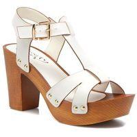 promocje - 20% Sandały I Love Shoes Thebois Damskie Białe 100 dni na zwrot lub wymianę
