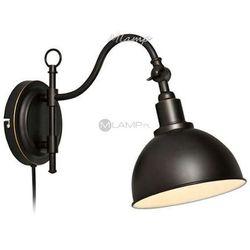 Kinkiet LAMPA ścienna EKELUND 104636 Markslojd industrialna OPRAWA metalowa czarny