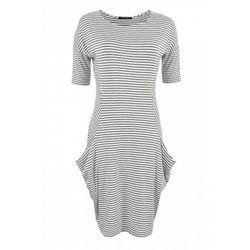 Sukienka w paski (Kolor: wielobarwny, Rozmiar: 40)