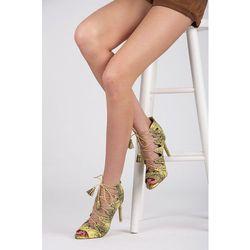 Sandałki snake Lucy - odcienie zieleni