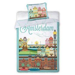 Pościel z motywem miasta Amsterdam