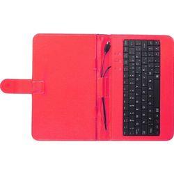 Etui z klawiaturą TRACER Etui z klawiaturą micro USB do tabletu 7 cali Czerwony