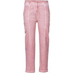 Spodnie bojówki bonprix dymny różowy