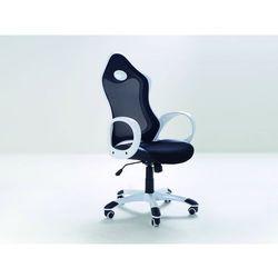 Krzesło biurowe - krzesło obrotowe - iChair czarno-białe