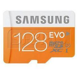 Karta pamięci Samsung Micro SD z adapterem EVO Up to 48MB/S 128GB - MB-MP128DA/EU