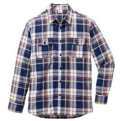 Koszula flanelowa Regular Fit bonprix błękit królewski w kratę