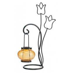 Świecznik z metalu – Tulipan