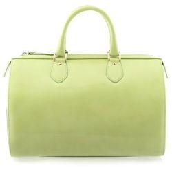 Zielony kuferek ze skóry lakierowanej