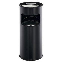Kosz naśmieci 17L Durable metalowy z popielnicą, czarny 3330-01