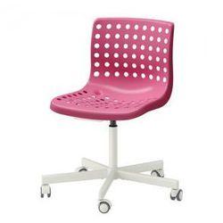 SKALBERG / SPORREN Krzesło obrotowe, różowy, biały