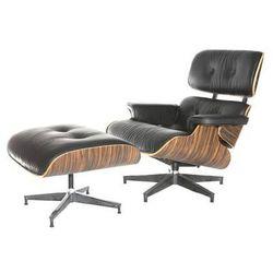 Fotel obrotowy z podnóżkiem Vip