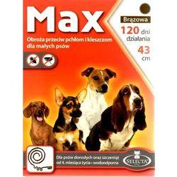 Selecta HTC Max Obroża dla małego psa przeciw pchłom i kleszczom 43cm brązowa [SE-0017]