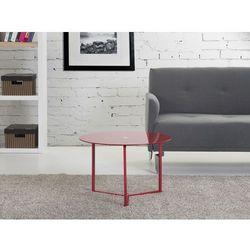 Nowoczesny stolik kawowy czerwony 60x40 cm - lawa - stól - TRIBECA
