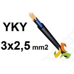 Kabel YKY 3x2,5 mm2 ziemny 0,6/1kV miedziany