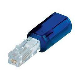 Przejściówka zapobiegająca skręcaniu się kabli telefonicznych, niebieska