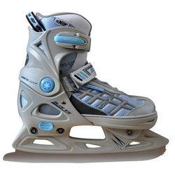Łyżwy figurowe regulowane AXER SPORT A2965 Blue Ice (rozmiar 40 - 43)