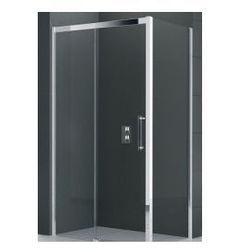 Drzwi Novellini Rose Rosse 2P 146-152 cm przesuwne do ścianki lub wnęki, wersja lewa, profil chrom, szkło przeźroczyste ROSE2P146S-1K