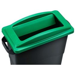 Kosz do segregacji śmieci Ekosort 60L, zielony