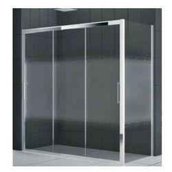 Drzwi prysznicowe Novellini Rose Rosse 3P 116-122 cm trzyczęściowe przesuwne do ścianki lub wnęki, chrom, szkło przeźroczyste ROSE3P116-1K