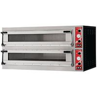 Piec do pizzy dwukomorowy Milan | 3 pizze | 400V | 1360x600x(H)745mm