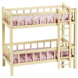 Goki, Piętrowe łóżeczko dla lalek z drabinką Darmowa dostawa do sklepów SMYK