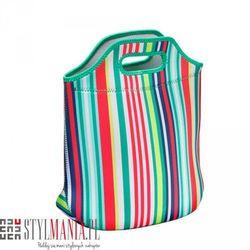 Podręczna torba z neoprenu 40 Settimane kolorowe paski