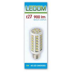 Żarówka - lampa LED 60 SMD5050 E27 230V 9W biała ciepła - biała ciepła