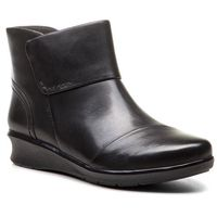 Botki CLARKS - Hope Track 261378754 Black Leather