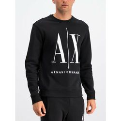 Armani Exchange Bluza 8NZMPA ZJ1ZZ 1200 Czarny Regular Fit