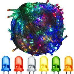 LAMPKI CHOINKOWE 200 LED KOLOROWYCH OZDOBA ŚWIĘTA - 200 LED / 25 METRÓW