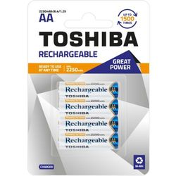 TOSHIBA Akumulatory Rechargeable AA R6 min. 2250mAh TOSHIBA AKU R6 2250mAh AA