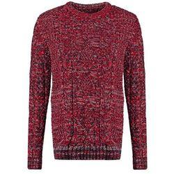 Superdry BLACK BLIZZARD CREW Sweter red/navy/cream