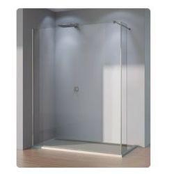 Ścianka stała ze ścianką krótką SanSwiss WALK-IN PUR szerokość 90 do 160 cm, lewa, połysk, szkło przeźroczyste DUOPGSM15007