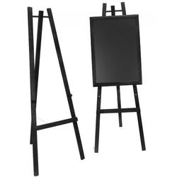 Sztaluga z drewna bukowego, czarna, wys. 165 cm
