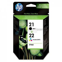 HP oryginalny ink SD367AE, No.21 + No.22, black/color, 190/165s, 2szt, HP 2-Pack, C9351AE + C9352AE