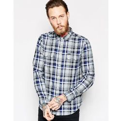 Lee Regular Fit Shirt Melee Dobby Check in Night Blue - Blue