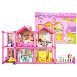 Duży domek dla lalek z akcesoriami + meble
