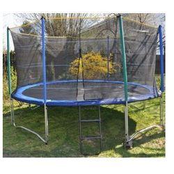 EURO 366 cm (12ft) - Trampolina ogrodowa z siatką zabezpieczającą i drabinką
