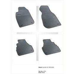 Dywaniki gumowe czarne z kompletem stoperów - Audi A6 (C5) 1997-2004