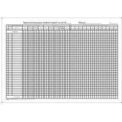 Tabela amortyzacyjna środków trwałych A3 / kpl-10 szt [Pu/K-267]